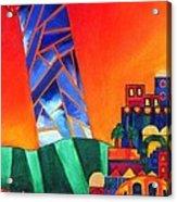 Sun City Acrylic Print by Dawnstarstudios