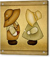 Sunbonnet Sue And Overall Sam Acrylic Print by Brenda Bryant