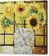 Sunflowers Acrylic Print by Michael Crapser