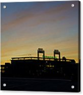 Sunrise At Citizens Bank Park Acrylic Print by Bill Cannon