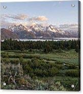 Sunrise At Grand Teton Acrylic Print by Brian Harig