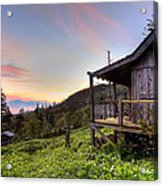Sunrise At Mt Leconte Acrylic Print by Debra and Dave Vanderlaan