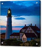 Sunrise At Portland Head Lighthouse Acrylic Print by Diane Diederich