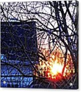 Sunrise Next Door Acrylic Print by Sarah Loft