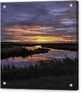Sunrise On Lake Shelby Acrylic Print by Michael Thomas