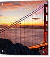 Sunrise Over The Golden Gate Bridge Acrylic Print by Brian Jannsen