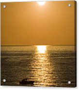 Sunrise Over The Mediterranean Acrylic Print by Jim  Calarese