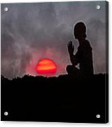 Sunrise Prayer Acrylic Print by Betsy Knapp