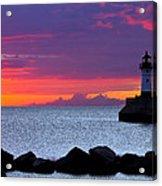 Sunrise Sailing Acrylic Print by Mary Amerman