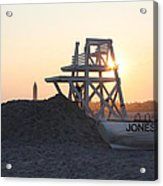 Sunset At Jones Beach Acrylic Print by John Telfer