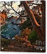 Sunset At Mcway Falls Acrylic Print by Adam Jewell