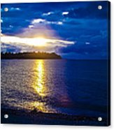 Sunset At Parksville Beach Acrylic Print by Christi Kraft