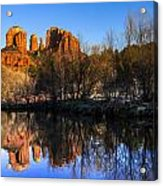 Sunset At Red Rocks Crossing In Sedona Az Acrylic Print by Teri Virbickis