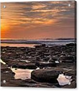 Sunset At The Tidepools II Acrylic Print by Peter Tellone