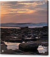 Sunset At The Tidepools IIi Acrylic Print by Peter Tellone