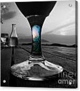 Sunset Cafe Acrylic Print by Micki Findlay