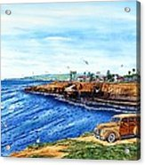 Sunset Cliffs Ocean Beach Acrylic Print by John YATO