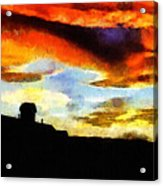 Sunset Colours Acrylic Print by Ayse Deniz