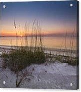 Sunset Dunes Acrylic Print by Debra and Dave Vanderlaan
