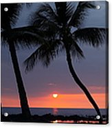 Sunset In Hawaii Acrylic Print by Athala Carole Bruckner