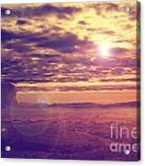Sunset In The Desert Acrylic Print by Jelena Jovanovic