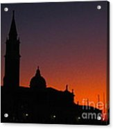 Sunset In Venice Acrylic Print by C Lythgo