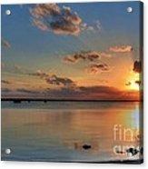 Sunset On Key Largo Acrylic Print by Mel Steinhauer