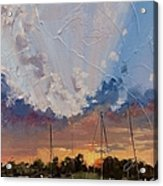 Sunset Over Bay Point Acrylic Print by Laura Lee Zanghetti