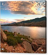Sunset Over Horsetooth Acrylic Print by Preston Broadfoot