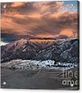 Sunset Over The Dunes Acrylic Print by Adam Jewell
