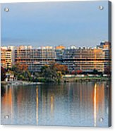 Sunset Over Watergate Acrylic Print by Olivier Le Queinec
