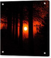 Sunset Silhouette Painterly Acrylic Print by Andee Design