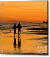 Sunset Stroll Acrylic Print by Al Powell Photography USA