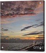 Sunset Stroll Acrylic Print by Elizabeth Carr