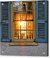 Sunset Through A Window Acrylic Print by Olivier Le Queinec
