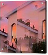 Sunsets On Houses Acrylic Print by Augusta Stylianou