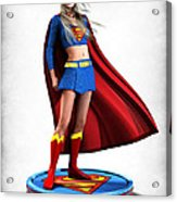 Super Girl V1 Acrylic Print by Frederico Borges