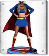 Super Girl V2 Acrylic Print by Frederico Borges