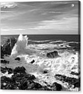 Surf At Cambria Acrylic Print by Barbara Snyder