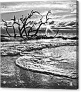 Surf At Driftwood Beach Acrylic Print by Debra and Dave Vanderlaan