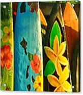 Surf Boards Acrylic Print by Wingsdomain Art and Photography