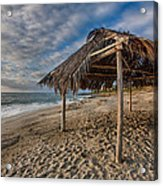 Surf Shack Acrylic Print by Peter Tellone