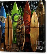 Surfboard Fence 4 Acrylic Print by Bob Christopher