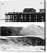 Surfer In Motion Acrylic Print by Paul Topp
