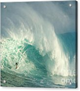 Surfing Jaws 3 Acrylic Print by Bob Christopher