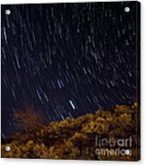 Surprise Trailhead Startrails Acrylic Print by Benjamin Reed