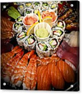 Sushi Tray Acrylic Print by Elena Elisseeva