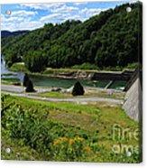Sutton Dam Acrylic Print by Thomas R Fletcher