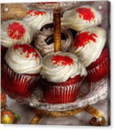 Sweet - Cupcake - Red Velvet Cupcakes  Acrylic Print by Mike Savad