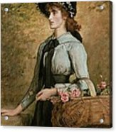Sweet Emma Morland Acrylic Print by Sir John Everett Millais